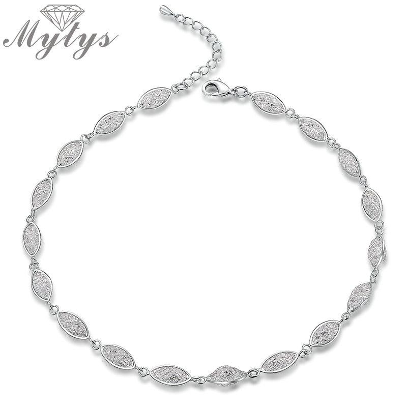 Mytys Silver Mesh Crystal...