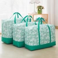3 Set Fabric Comforter Storage Bag With Handles Durable Organizer Bag For Quilt Blanket Pillows Garments