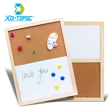 30*40cm Wood Frame Cork Board Combination Magnetic Writing Board Message Bulletin Boards Office School Supplies Home Decorative