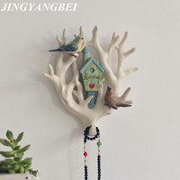 Tree Hooks resin Household Wall Decor Coat Keys Bags Clothes Hooks Three-dimensional Macaw Seamless Hooks