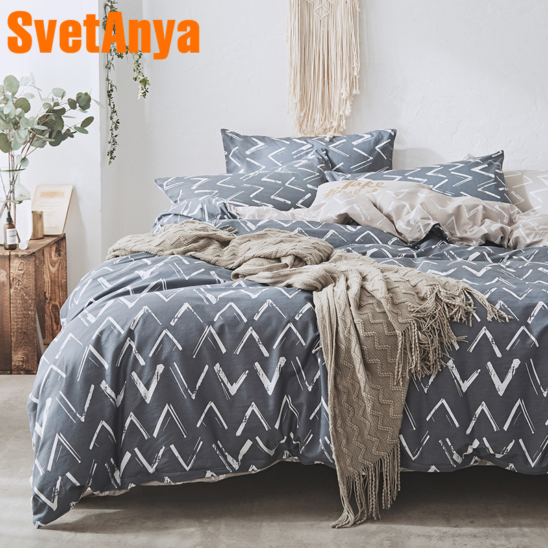 Svetanya Cotton Bed Linens Brief Style Bedding Sets Quilt Cover flat Sheet Pillowcase