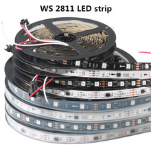 LED 5 Meter WS2811 Strip Light DC12V IP30 IP65 IP67 IP68 RGB Addressable 30 48 60LEDs/M pixels strip 1 IC to 3 LEDs Magic Strip straight wire crescendo ii ic 1 5 m