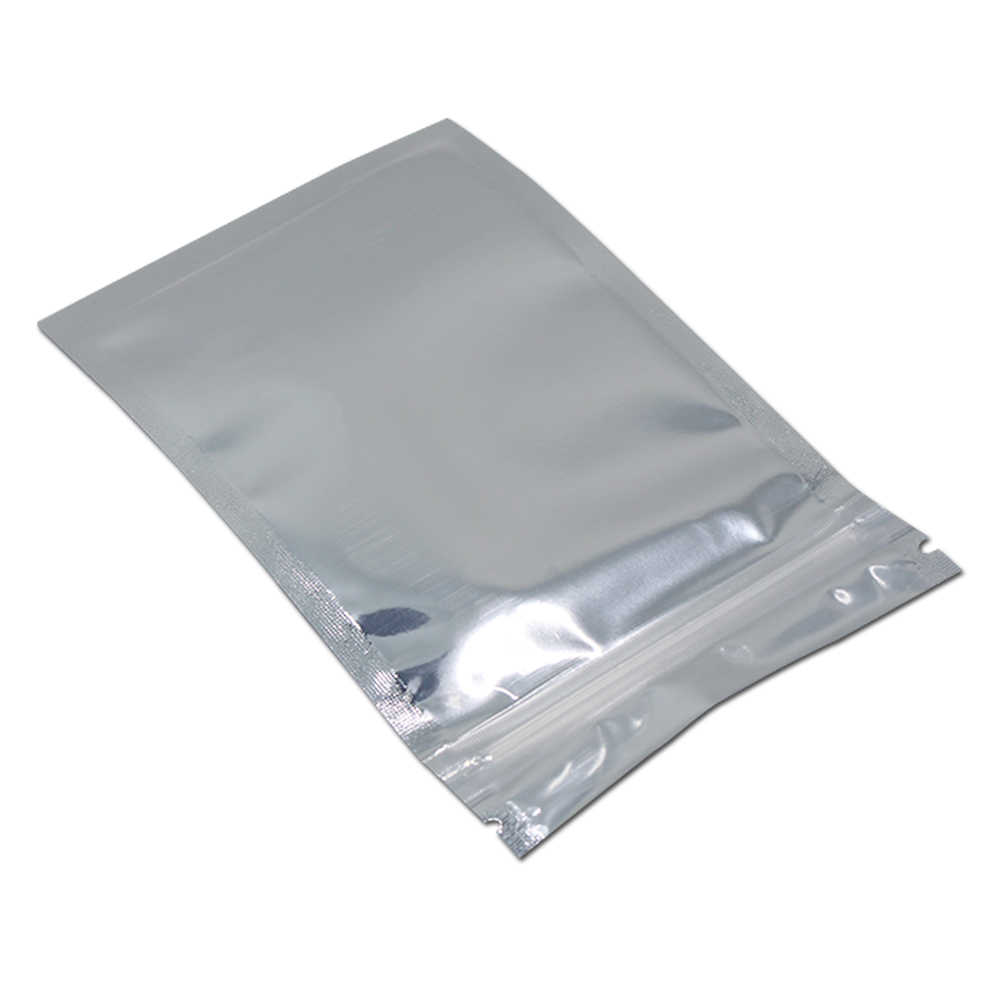 Aluminum Foil / Clear Reclosable Valve Zipper Plastic Retail Packing Pack Bag Zip Lock Ziplock Bag Storage Sample Mylar Package