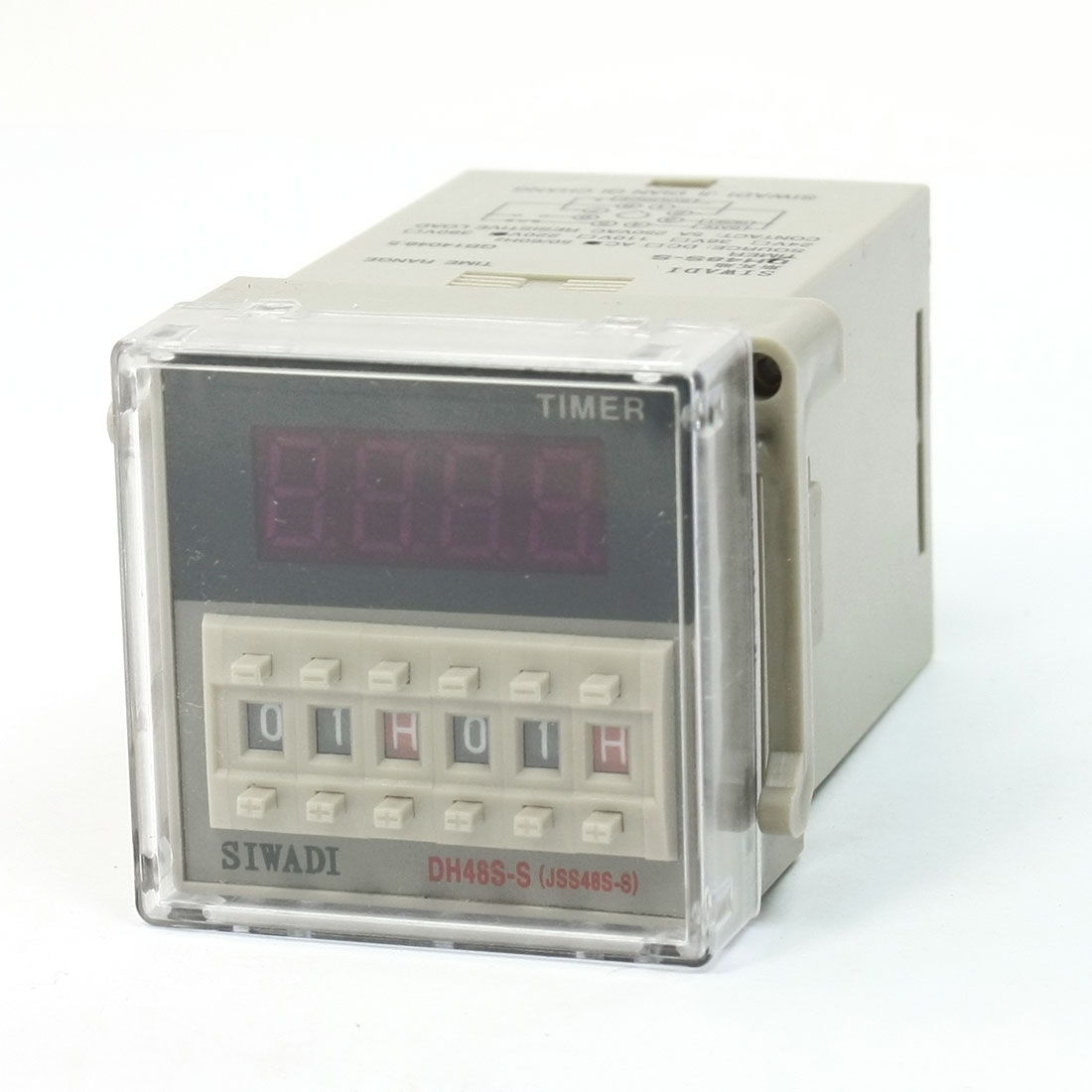 Dh48s-S 4 Digits Display Dpdt 0.1S-99H99m Count Up Digital Counter Relay Ac220v