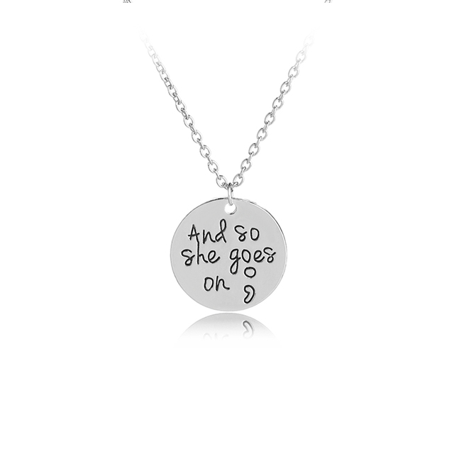 And So She Goes On Depression Awareness Charms Motivational Inspired Necklace Disc Pendant Health Gift
