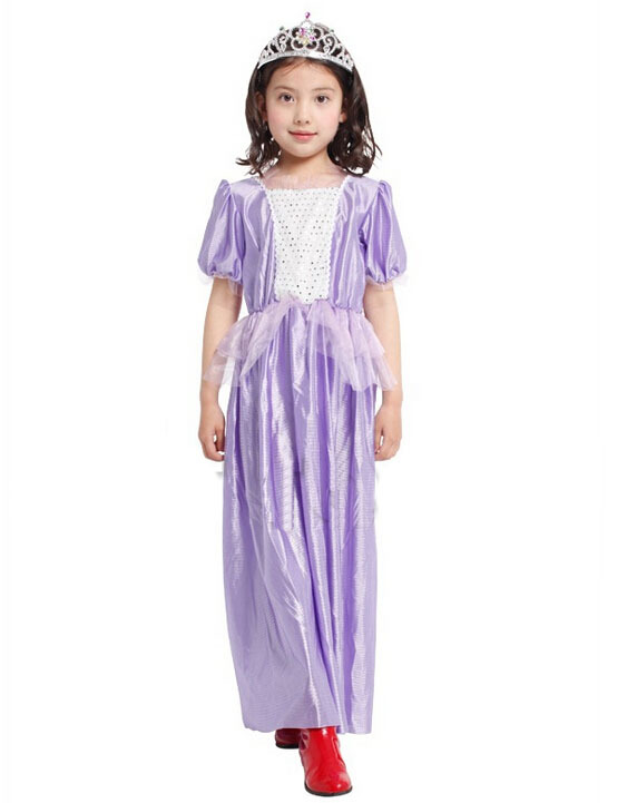 Free Shipping!!violet Princess, Stage Performances, All Saints Party, Costume Party Dress Cute Girls Show Costumes Volume Large