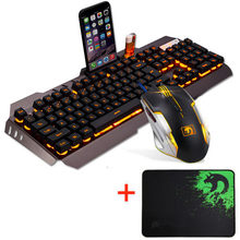 2019 Keyboard Mouse Combo M938 LED Backlight USB Ergonomis Gaming + Gamer Mouse Set + Mouse Pad Dropshipping(China)