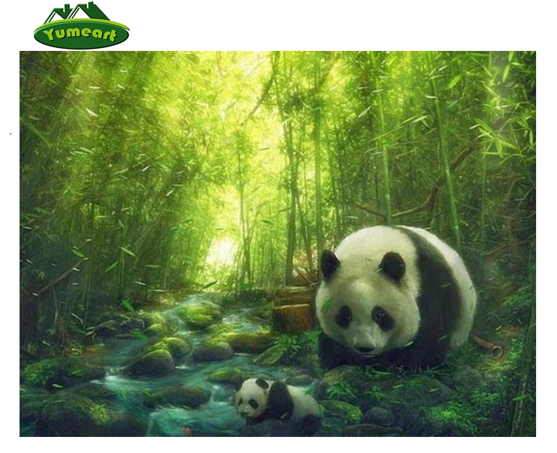 3D Diy Diamond Drawing Painting By Number Bamboo Panda Animals Rhinestones Embroidery Cross Stitch Kits Home YHAll Art Dcor