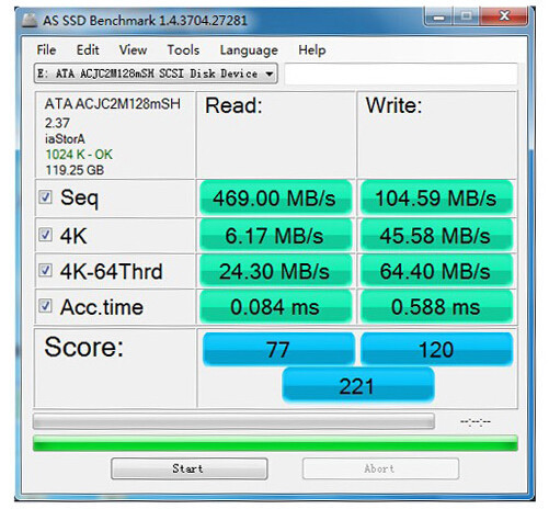 128GB HALF MSATA SPEED 3