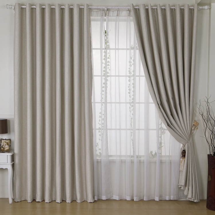 New fashion grey thick blackout curtains for windows of for Cortinas para cuartos