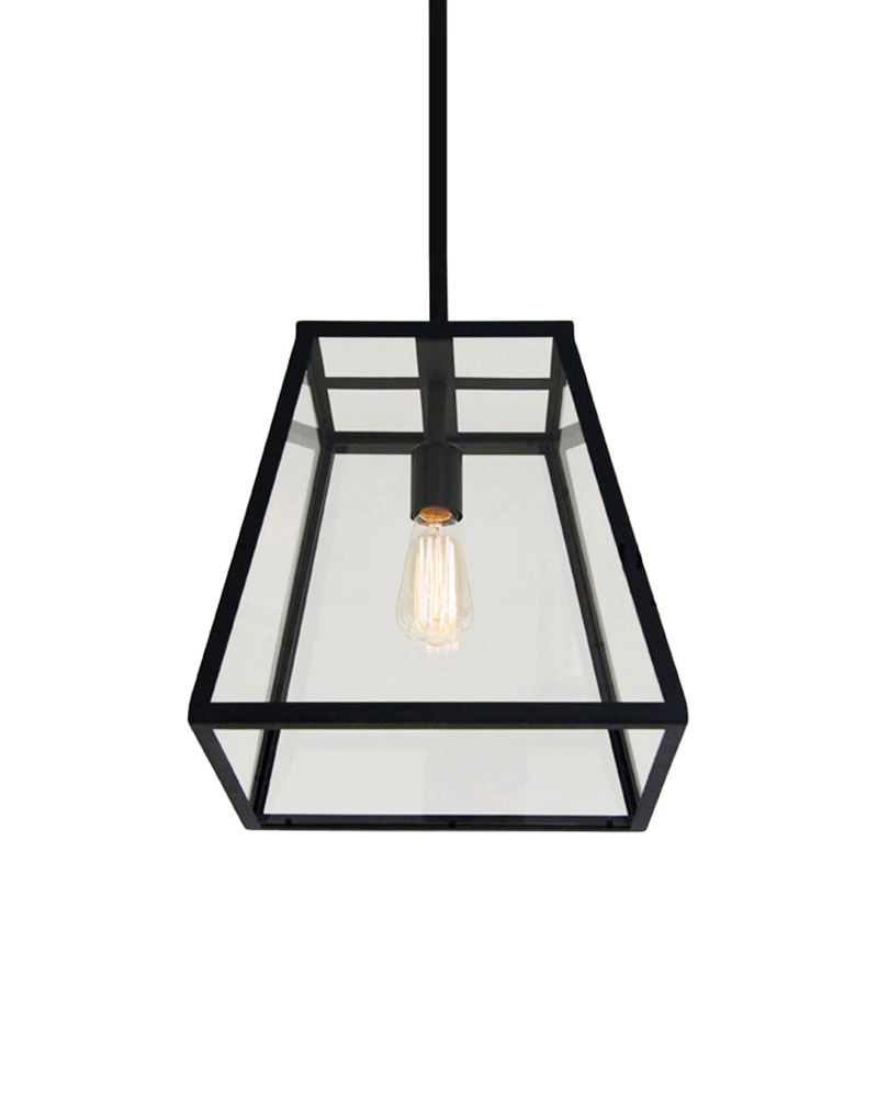 EMS Free Shipping Pendant Light Retro Industrial Lamp With Metal Framed Glass Box PU E27 CYDDDCC In Lights From Lighting On