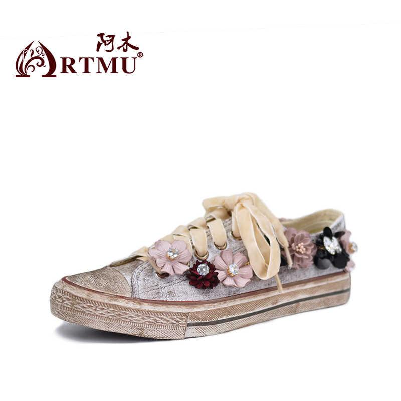 Artmu Original Bord Schuhe 2018 Neue Leinwand Schuhe Studenten Casual Schmutzige Schuhe Flachen sohlen Flake Schuhe 606-69