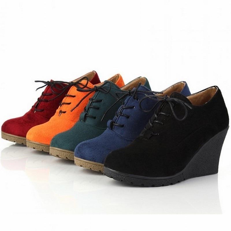 39 Wedges Mujer Goma 2016 Up Nuevo Casual De Las Alto Para Mujeres 35 azul Tamaño Zapatos Plataforma Tacón Negro Sexy Lace rojo naranja Bombas verde 6fHWAr6n