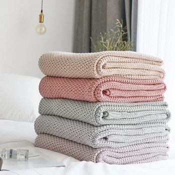 100% Cotton Nordic Style Throw Blanket Bedroom Blankets Departments Living Room Outdoor Rooms