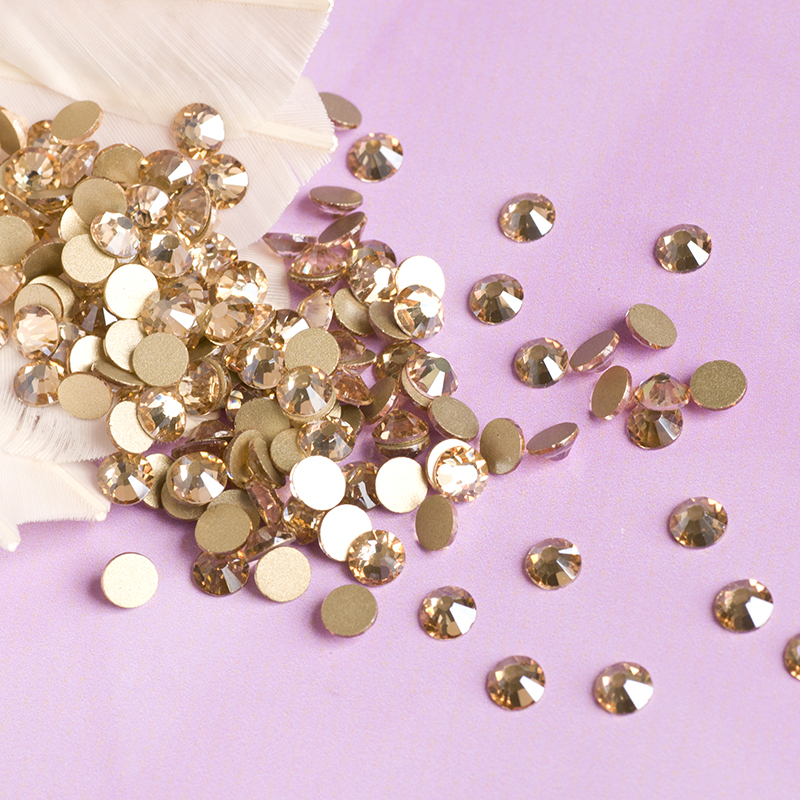 Charms Gold Shadow DIY Diamond Design 1440pcs SS10 Non Hotfi