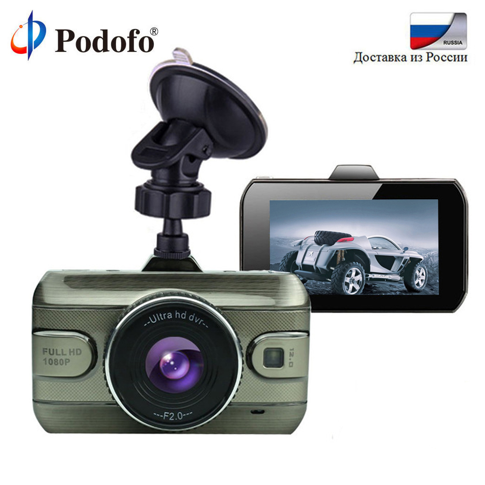 Podofo 2017 New 3 Inch Car Dvr Camera Full HD 1080P Car Video Recorder Loop Recording Dash Cam Night Vision Car Camera DashCam