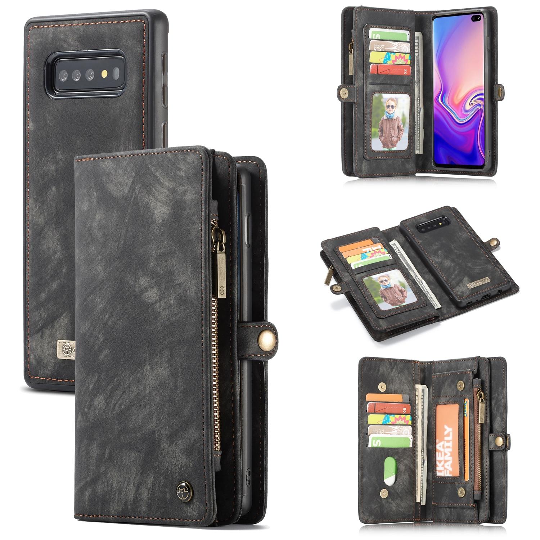 Zipper luxo Wallet Para Coque Samsung S10 5G S10e S10 Mais Tampa Articulada Galáxia Estojo A20e A30 A40 A50 a70 A80 A90 Sacos Magnéticos