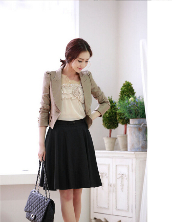 ac3292fcc91 new 2014 autumn winter wool skirts women s plus size pleated skirt wool  pocket casual skirts S-6XL free shipping