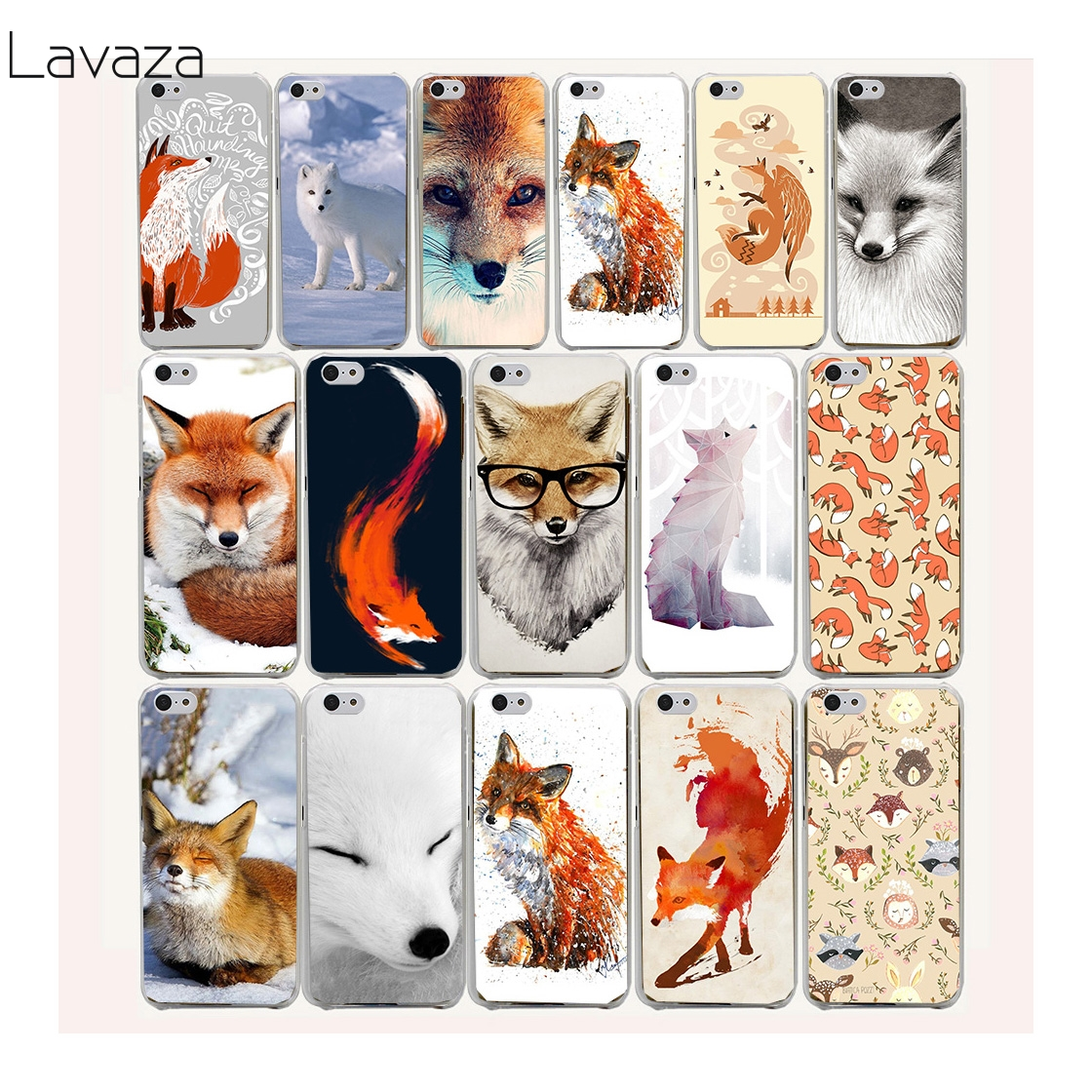 Lavaza 47af lovely cute snow fox Hard Case for iPhone 7 7 Plus 6 6S 8 8 Plus X 10 5 5S SE 5C 4S Cover
