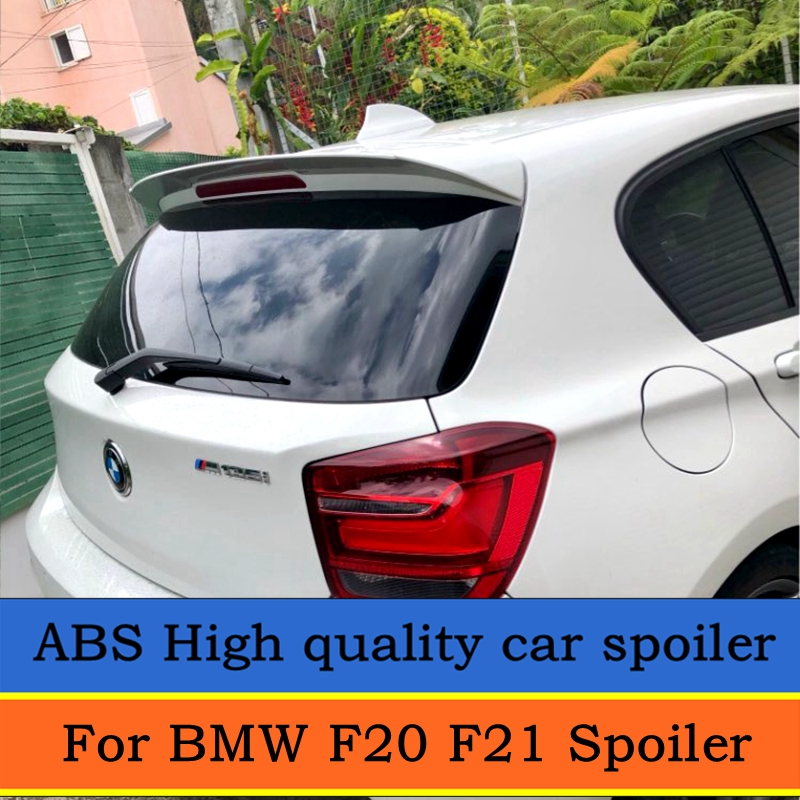 For <font><b>BMW</b></font> F20 <font><b>F21</b></font> <font><b>Spoiler</b></font> For 2012-2016 <font><b>BMW</b></font> 116 118 120 125 135 F20 <font><b>Spoiler</b></font> high quality ABS Material Car Color Rear <font><b>Spoiler</b></font> image