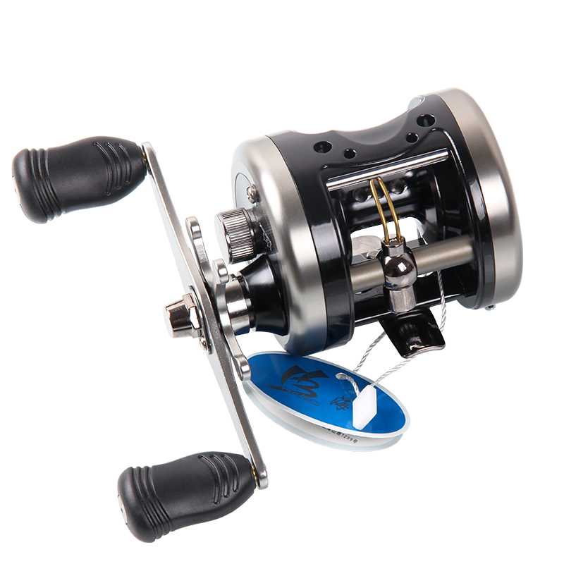 ФОТО HAIBO Brand Right Hand Cast Drum Wheel Trolling Boat Fishing Reel SNAILR  295g 5 Bearings
