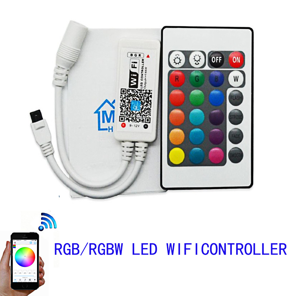 wifi rgbw and rgb led controller for led strip panel light dv 12 24v ios iphone ipad andriod 24. Black Bedroom Furniture Sets. Home Design Ideas