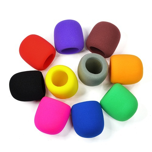 Free shipping 50pcs/lot color microphone foam mic cover protective windscreen grill audio shield