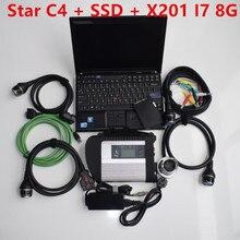 MB Star C4 с новейшим wifi mb sd c4 SSD программным обеспечением,09 v подходит для ноутбука X201 Быстрая