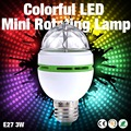 Factory Cheap Sale NEW E27 3W Colorful Auto Rotating lampada 85-260V Bulb Stage Light Party Lamp Disco MIni RGB LED Nightlight