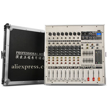 Flight Case Super Power Bluetooth USB SD Card Amplifier Mixer One Machine Digital Effect Processing Mixer Microphone System