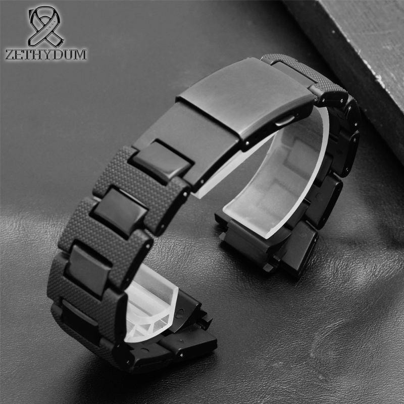 Plastic watch band 26*16mm <font><b>strap</b></font> for casio g-shock <font><b>DW</b></font>-6900/DW9600/DW5600/GW-M5610 and stainless steel case bumper Accessories image