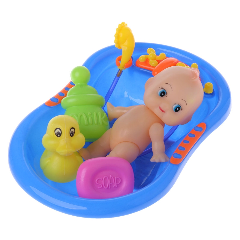 2017 Infant Bathtub With Baby Doll Bath Toy For Child Water Floating ...