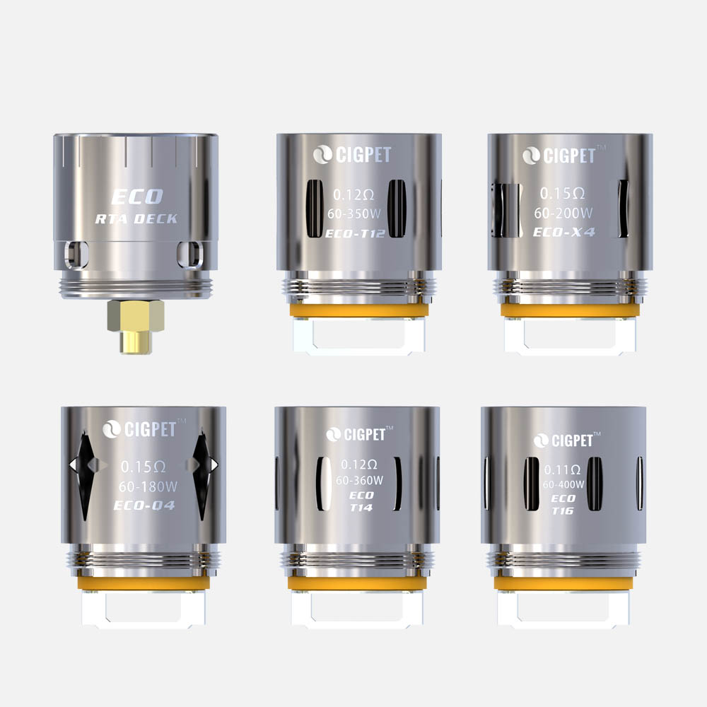 Original 3Pcs/Pack Cigpet Replacement Coil for ECO12 tank available type ECO-Q4  ECO-X4  ECO-T12 ECO-T14  ECO-T16