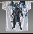 Famoso jogo Mortal Kombat Scorpion abaixo de zero homens T masculino de manga curta t-shirt em torno do pescoço homem clássico não de jogo