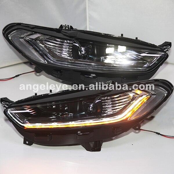 Для Форд Фьюжн титана Мондео фары с LED высокого луча света 2013-2014 год Доубл Цвет ПВ
