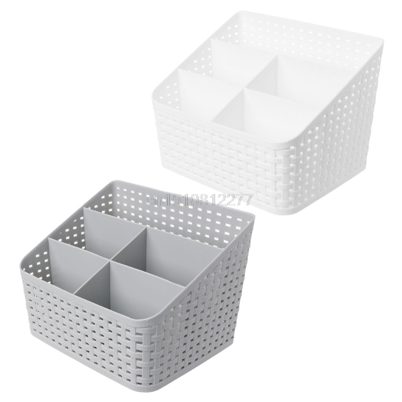 Desk Makeup Box Plastic Jewelry Container Stationery Cosmetic Organizer Case J05 Dropshipping