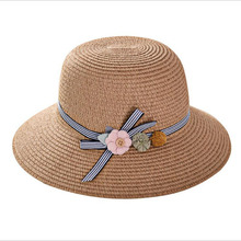 SUOGRY New Summer Hat Women Solid Plain Floppy Straw Lady Parent-child Wide Brim Beach Sun Kids Child Panama Bucket Cap
