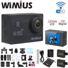 Wimius Q2 WiFi Full HD 1080p Action Camera Mini Sport Helmet Cam DVR Camcorder 30M Go Waterproof 40M Pro Outdoor DV 2 batteries