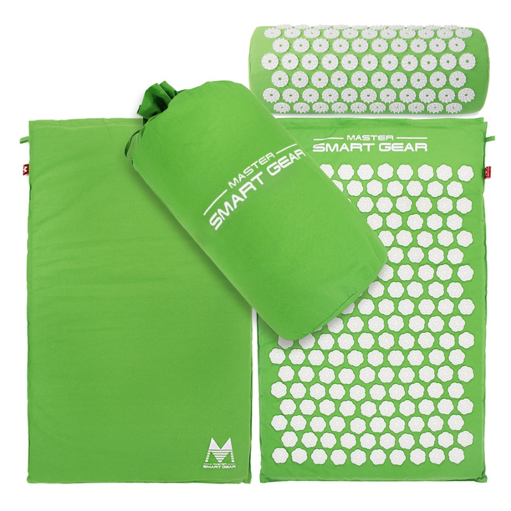 Lotus Spikes Acupressure Mat and Pillow Set Massages