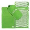 Spikes mat acupressure and travesseiro conjunto de lótus natural para o alívio de estresse dor tensão de pico