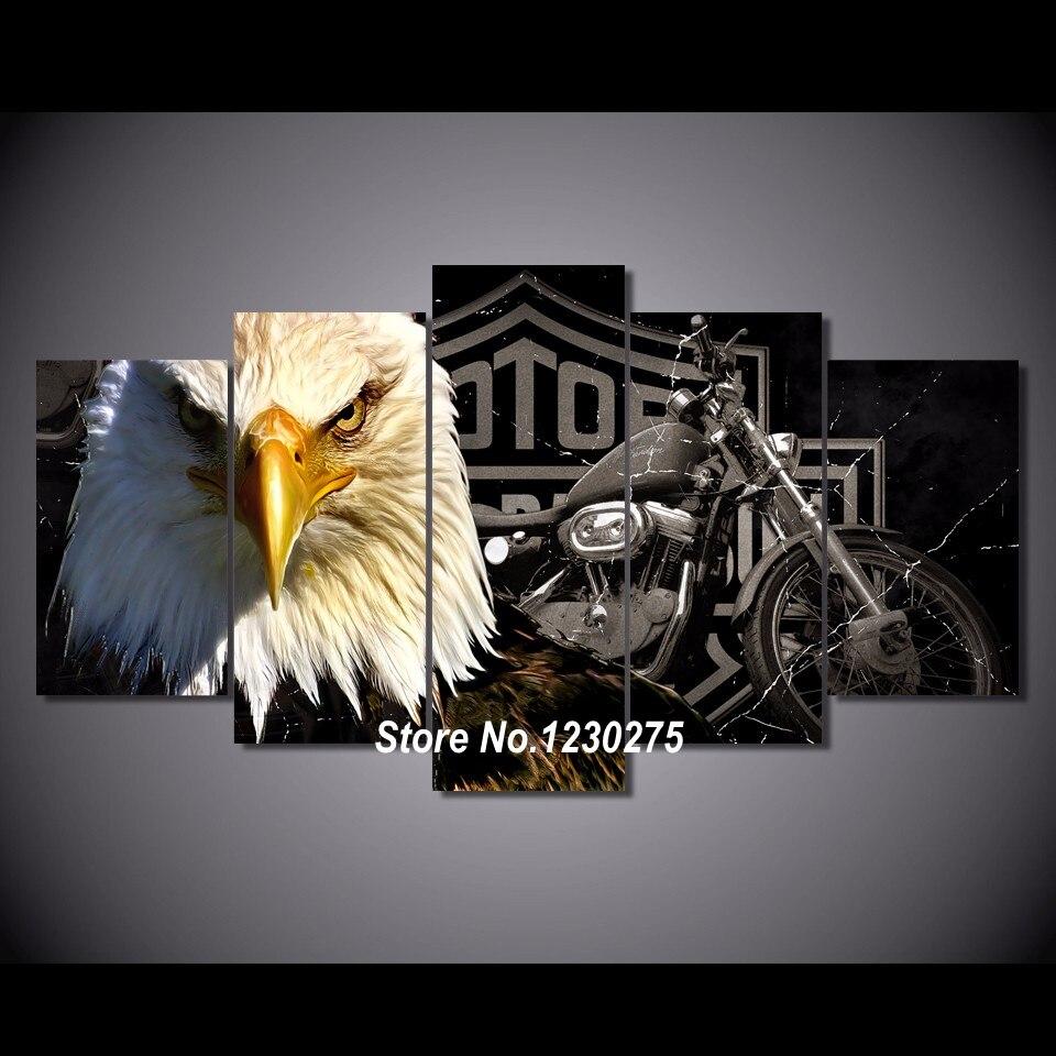 5Pcs Diy Diamond Painting Cross Stitch Motorcycle And Eagle Full Diamond Embroidery 5D Square Diamond Mosaic Kits ML016