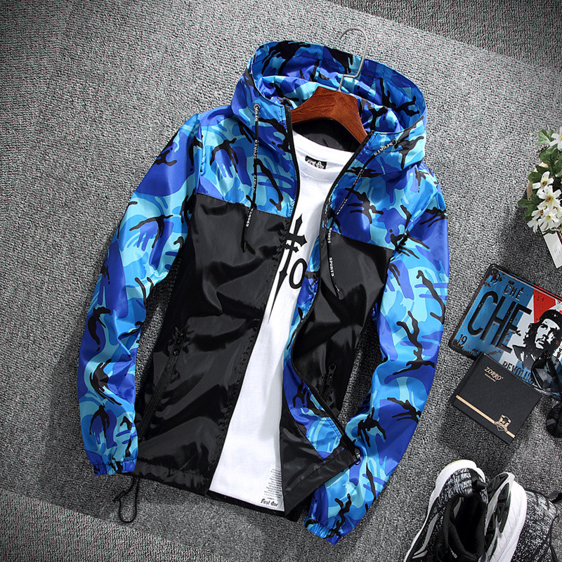 HTB18arKn79WBuNjSspeq6yz5VXaG 2019 Men's wear casual camouflage jacket. of Slim handsome spring autumn casual solid color large size baseball clothes