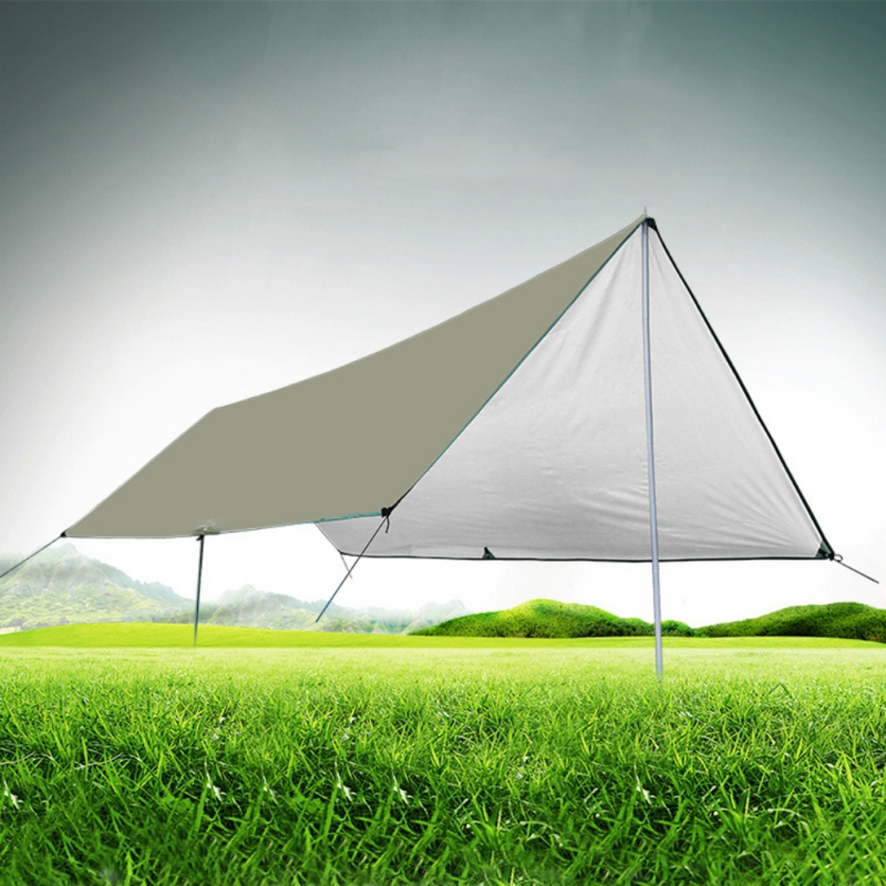 Bâche ultralégère Camping en plein air argent survie tente auvent abri imperméable ombre plage soleil revêtement Pergola