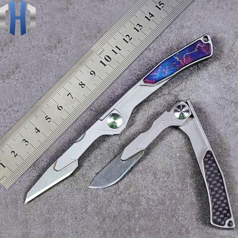 US $59 3 10% OFF|Stock New 2019 Titanium Folding Scalpel Pocket Outdoor  Knife Portable Knife EDC Tools Utility Knife-in Knives from Tools on