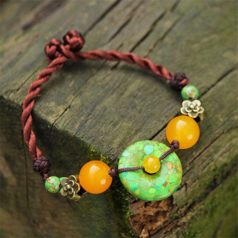 font b women b font bracelets 2016 new DIY green hot sell features pulseiras fashion