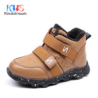Kindstraum New Winter Autumn Soft Leather Kid Fashion Shoes Casual Patch Baby Boy Rubber Sports Style High Qualit Boots ,MJ147