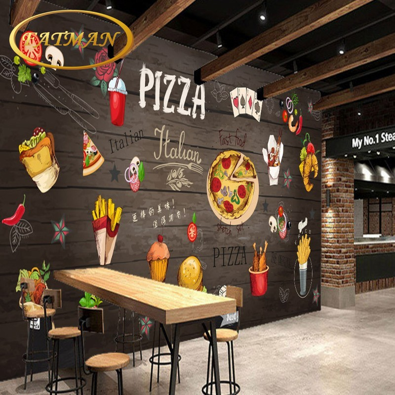 Aliexpress.com : Buy Custom 3D Photo Wallpaper Hand Painted Wood Pizza  Restaurant Backdrop Wallpaper Living Room Lobby Mural Papel De Parede From  Reliable ... Part 42