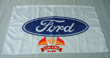 Ford carro de corrida bandeira branca, 90*150 CM poliéster ford banner