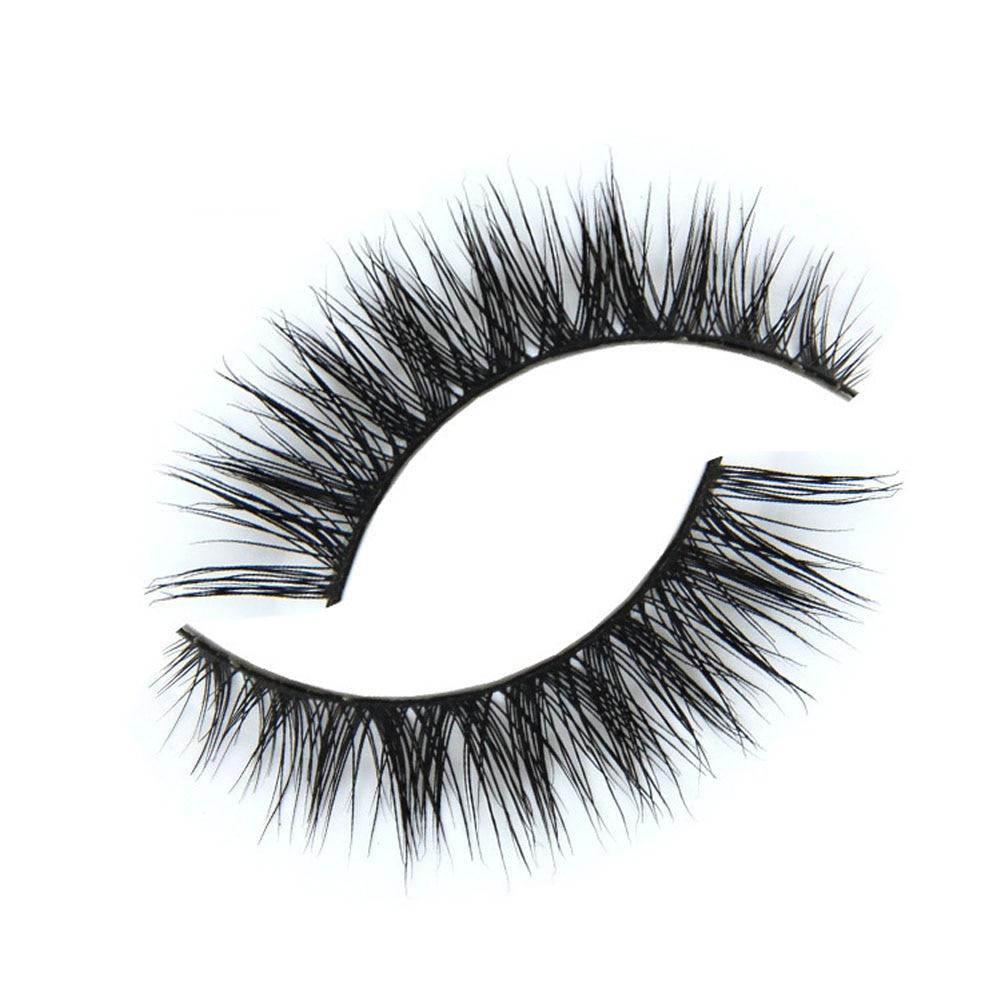 1Pair Lashes Natural False Eyelashes Makeup 3d Mink Lashes ...