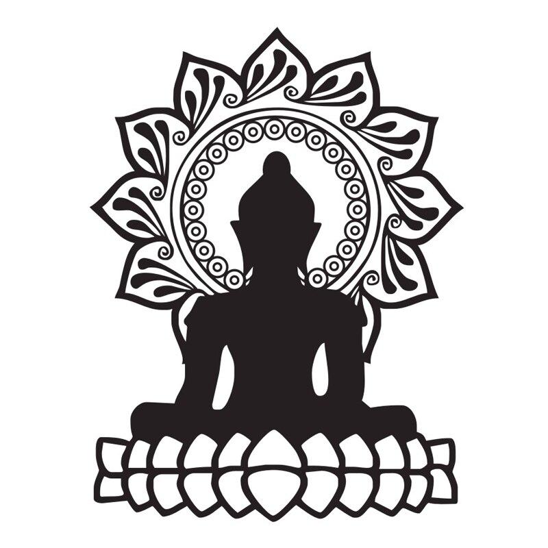 Buddha Wandaufkleber Indischen Design Lotus Blume Vinyl Aufkleber